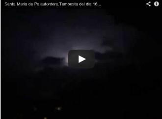 La tempesta de llamps d'aquesta matinada vista des de Palautordera