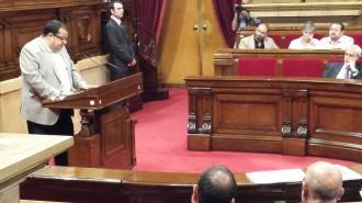Elena posa veu al socialisme sobiranista al Parlament en un sentit discurs