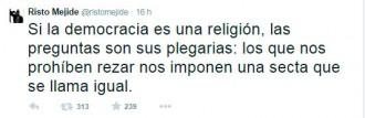 Vés a: Risto Mejide titlla Espanya de «secta» que no deixa resar