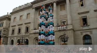 El vídeo del 9 de 8 amb 5 aletes dels Castellers de Vilafranca
