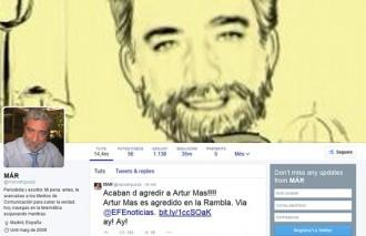 Vés a: Miguel Ángel Rodríguez a Twitter: 'Acaban d'agredir a Artur Mas!!!'