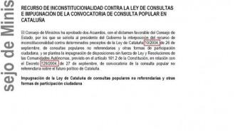 Vés a: Els recursos del Consell de Ministres contra el 9-N inclouen errors