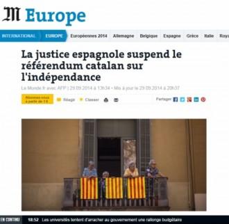 Vés a: La premsa internacional, pendent de la suspensió de la consulta
