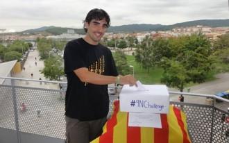 Un jove egarenc inicia la campanya #9NChallenge a favor del dret a decidir