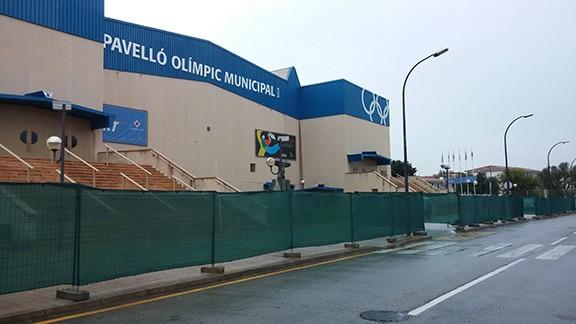 Pronta la pista del campionato del mondo reus2014 - Pavello olimpic reus ...