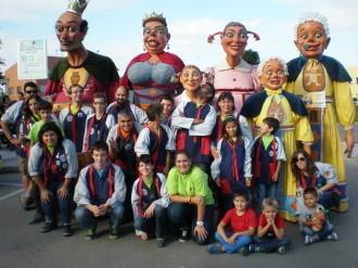 Els gegants del carnaval de Solsona a Sta. Coloma de Farners