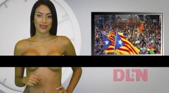 Una presentadora de TV venezolana informa de la consulta completament nua