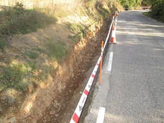 Comencen les obres d'arranjament de la carretera a Vilanova de Banat
