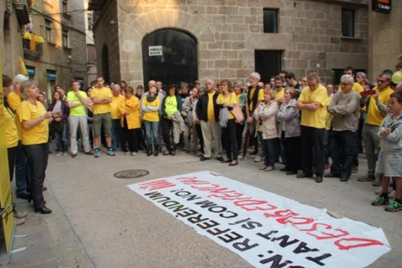 Crits d'independència i Volem votar a Solsona